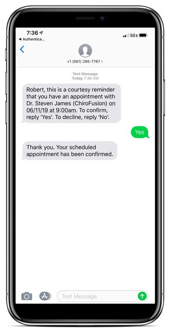 Text Patient Appointment Reminders for Chiropractors