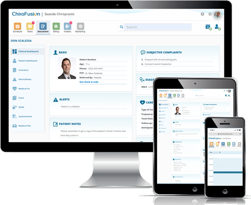 Chiropractic EHR Software by ChiroFusion