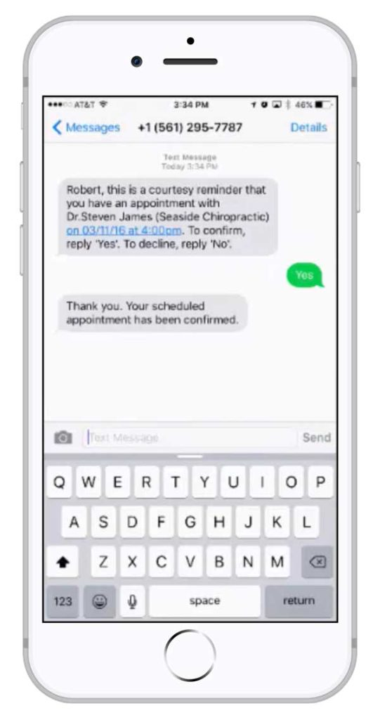 Text Appointment Reminders for Chiropractors